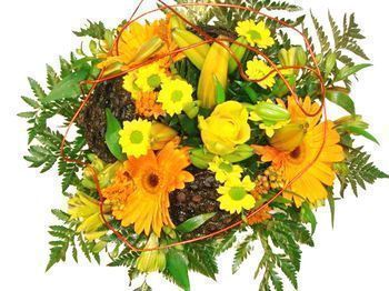 Bouquet orange et jaune